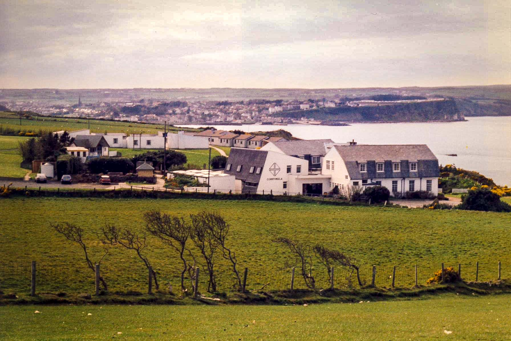 The Old Corrymeela Campus, Ballycastle, photographed in the 1980's