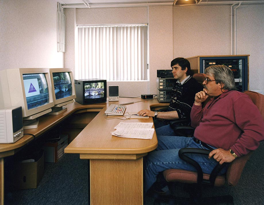 A broadcast documentary being edited at Callister Communications studio. We had one of Northern Ireland's first digital edit suites outside BBC and UTV.